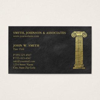 Coluna da empresa de advocacia de advogados do cartão de visitas