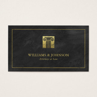 Coluna do advogado do advogado do ouro de justiça cartão de visitas