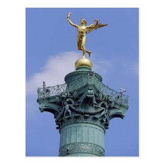 Coluna, Lugar de la Bastill, Paris Cartão Postal