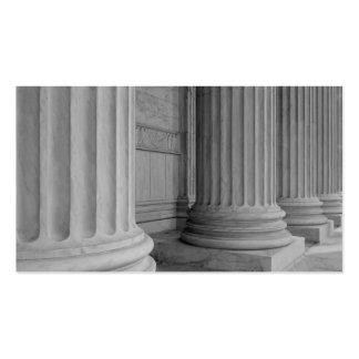 Colunas de mármore cartões de visita
