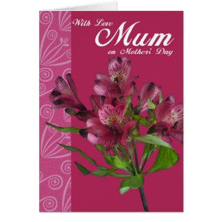 Com a mãe do amor no dia das mães, cartão do dia d