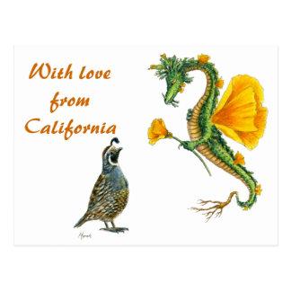 Com amor de Califórnia - cartão