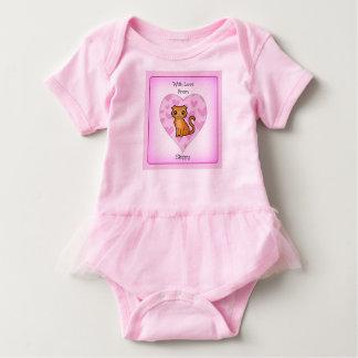 Com amor do Bodysuit do tutu do bebê de Skippy Body Para Bebê