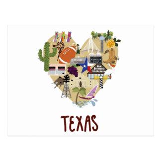 Com amor do grande cartão do estado do Texas
