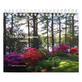 Com as estações - calendário ---