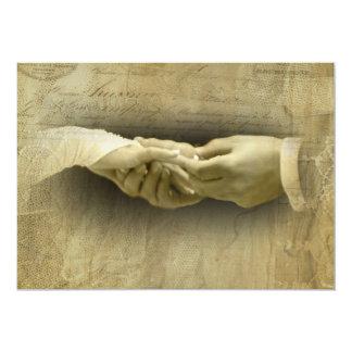 Com este anel, amor romântico do casamento vintage convite 12.7 x 17.78cm