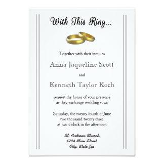 Com este anel… - Convite do casamento