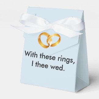 Com estes anéis eu thee wed caixinha de lembrancinhas para festas