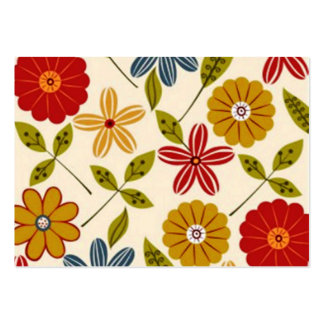 COM flores do imagem Cartão De Visita Grande