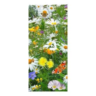 COM flores do imagem faz o campo 10.16 X 22.86cm Panfleto