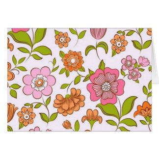 COM flores do padrão Cartão Comemorativo