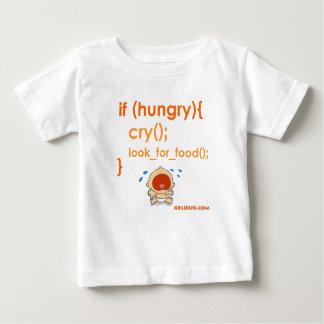 Com fome camiseta para bebê