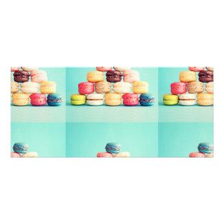 Com fome, Macaron, hipster, multicolorido, 10.16 X 22.86cm Panfleto
