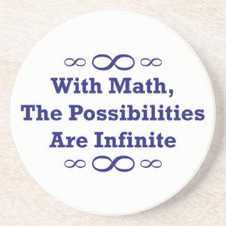 Com matemática, as possibilidades são infinitas porta copos de arenito