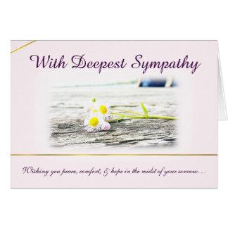 Com o cartão de simpatia o mais profundo