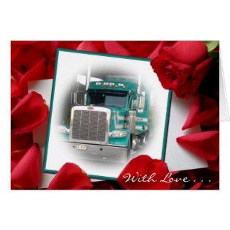 Com o cartão do caminhão das pilhas do amor…