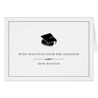 Com o obrigado da graduação da gratitude | você cartão de nota
