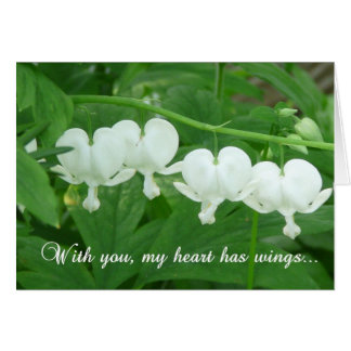 Com você meu coração tem as asas! - Cartão vazio