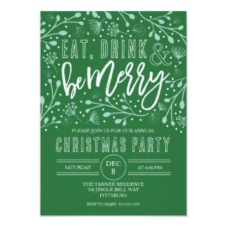 Coma a bebida e seja convite de festas do Feliz