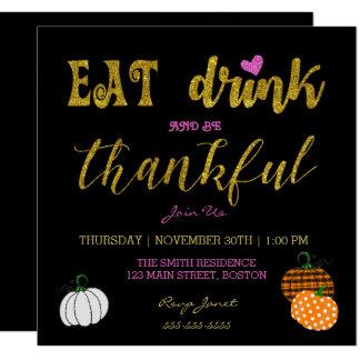 Coma a bebida e seja convite grato da festa