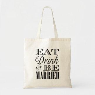 Coma a bebida e seja o bolsa Wedding casado