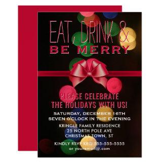 Coma a bebida seja convite alegre da festa