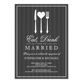 Coma a bebida & seja convite casado da festa de