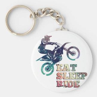 Coma a bicicleta da sujeira do passeio do sono chaveiro