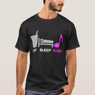 Coma a camisa de Kpop T do sono (escura)