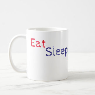 Coma a caneca da repetição do blogue do sono