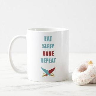 Coma a caneca de café de Runescape do sono