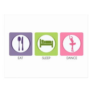 Coma a dança do sono! cartão postal