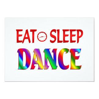 Coma a dança do sono convite