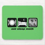 coma a matemática do sono mouse pads