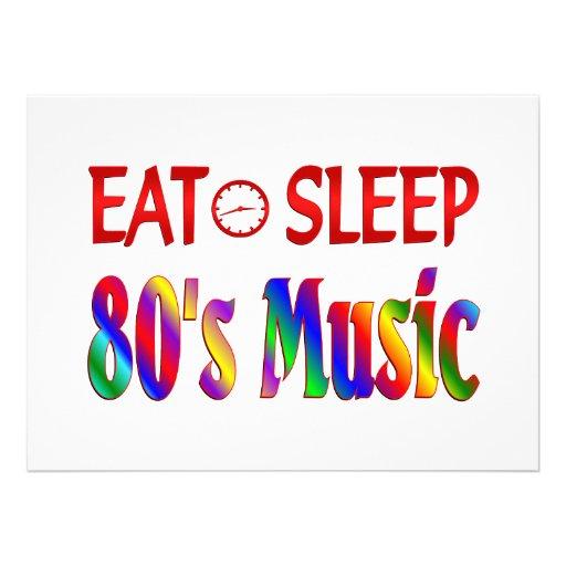 Coma a música do anos 80 do sono convites
