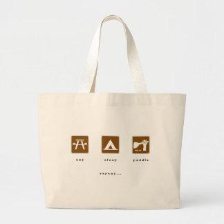Coma a pá do sono bolsa para compras