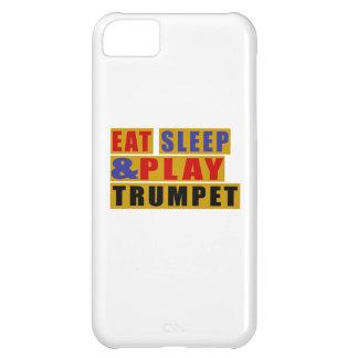 Coma a TROMBETA do sono e do jogo Capa Para iPhone 5C