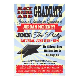 Coma, beba e gradue-se! Convites da graduação