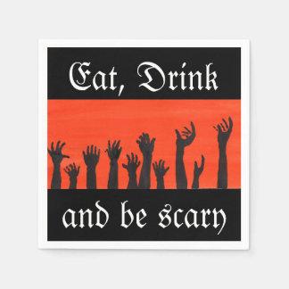 Coma, beba, e seja guardanapo assustador