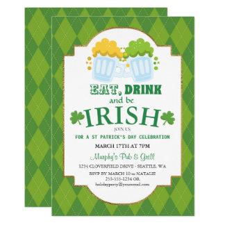 Coma, beba, seja o convite de festas de St Patrick