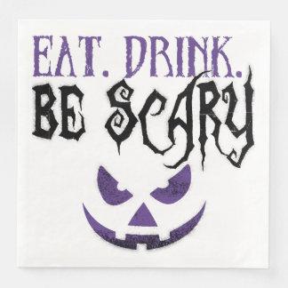 Coma. Bebida. Seja guardanapo assustadores