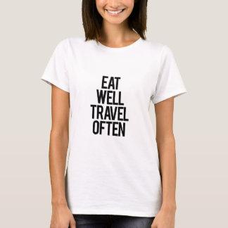 Coma bem citações de viagem do viagem t-shirt