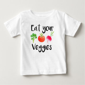 """""""Coma camisa do bebê dos seus vegetarianos"""""""