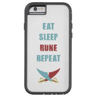 Coma capas de iphone da repetição do Rune do sono