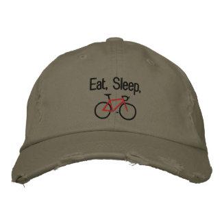 Coma, durma, Bike Boné Bordado