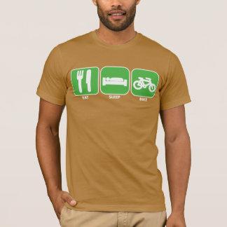 Coma, durma, Bike o design no verde Camiseta