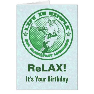 Coma, durma, jogue o cartão de aniversário do