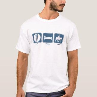 coma, durma, monte camiseta