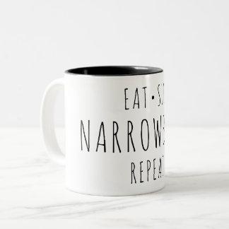 """""""Coma, durma, Narrowboat, caneca da repetição"""""""