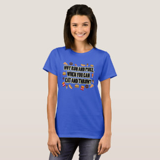 Coma e jogue a camisa psta tiro do lance de disco